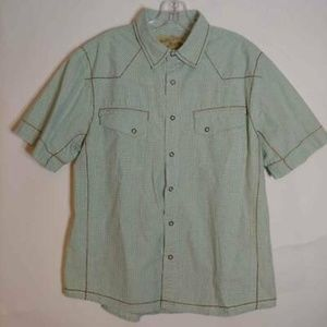 American Rag Cie Western Shirt Green Plaid Large